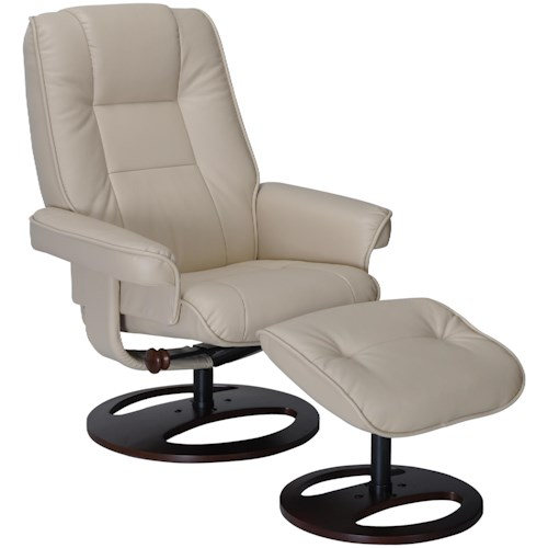Benchmaster Aberden Leather Chair and Ottoman