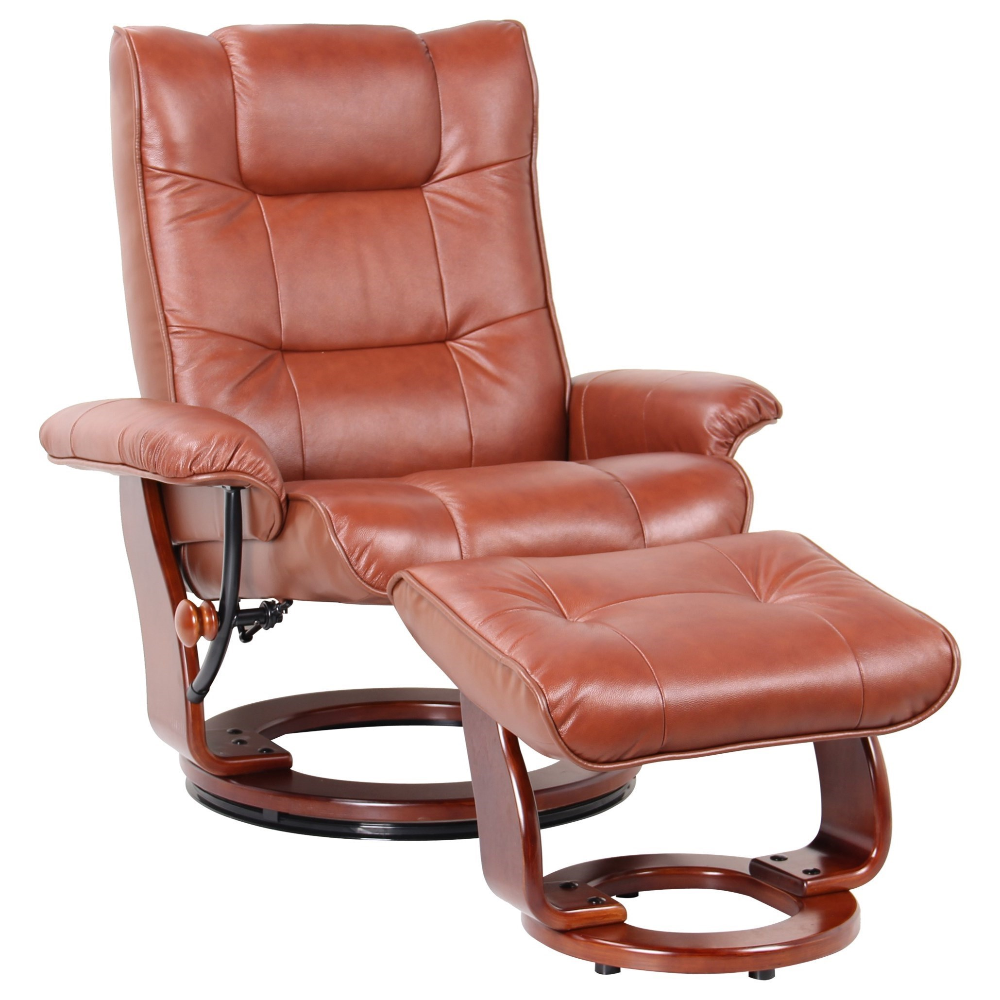 Benchmaster Monterey Swivel Reclining Chair And Ottoman