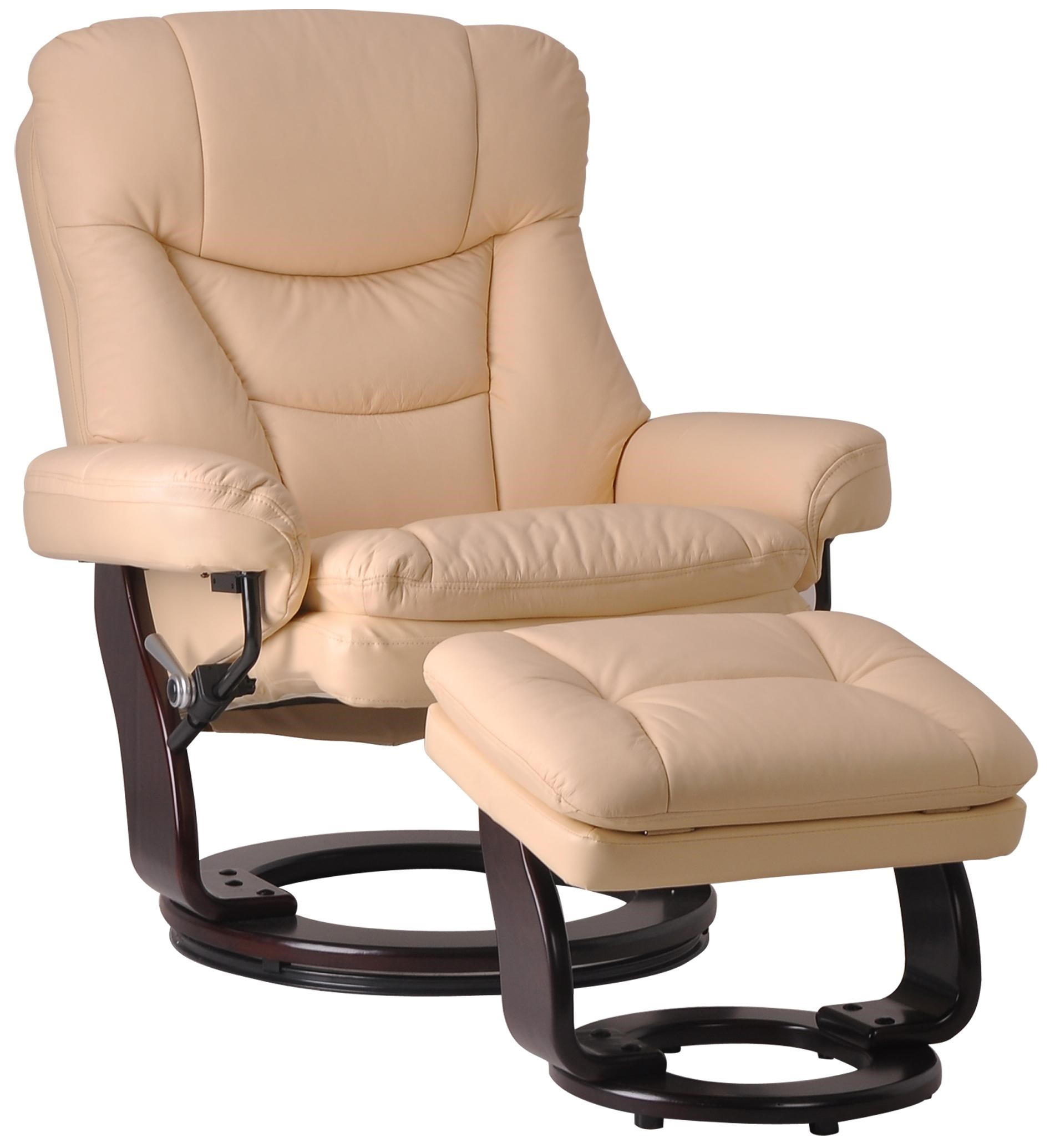 Benchmaster Palermo Casual Contemporary Reclining Chair And Ottoman