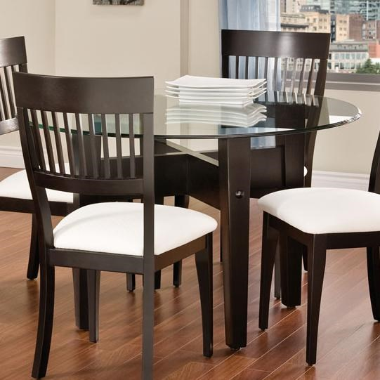 Bermex Bermex   Tables Round Dining Table W/ Glass Top