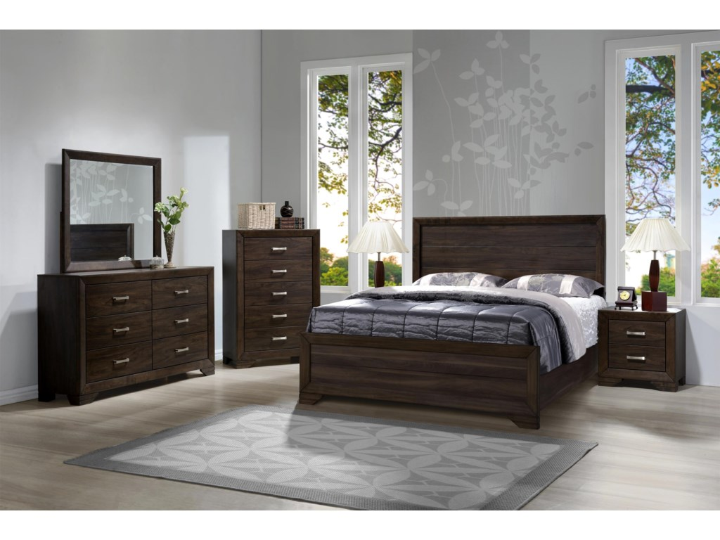 Bernards Asheville MangoQueen Bedroom Group