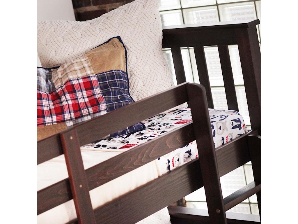 Bernards SadlerMerlot Bunk Bed with Chest