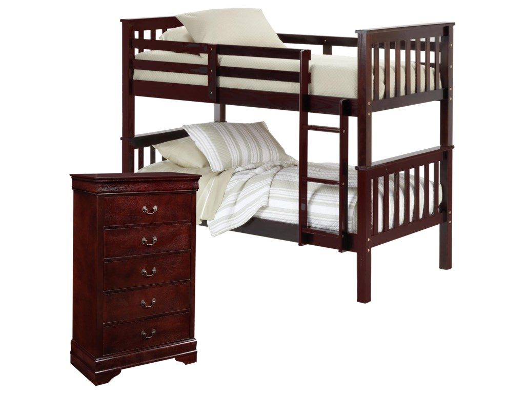 Bernards SadlerBunk Bed with Chest