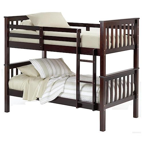 Bernards Sadler Twin Bunk Bed (requires bunkie boards)