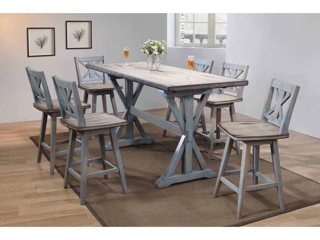 Bernards SummervilleCounter Table & 6 Stools