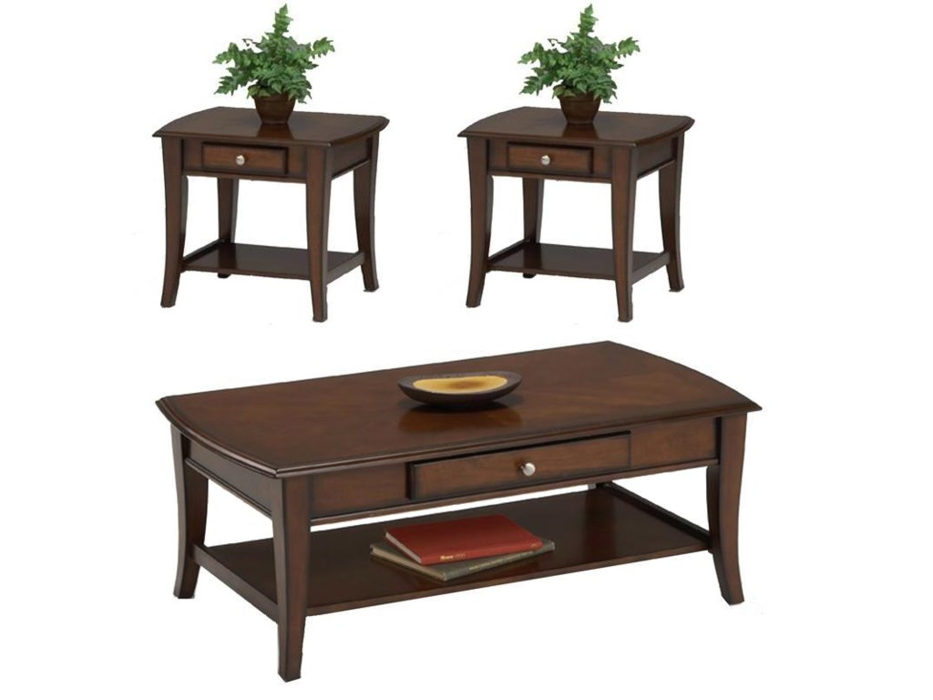 Bernards Broadway3 Pc. Accent Table Group