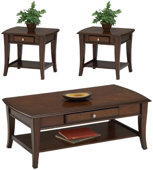 28993 Broadway 3 Pc. Cocktail Table & 2 End Table Group