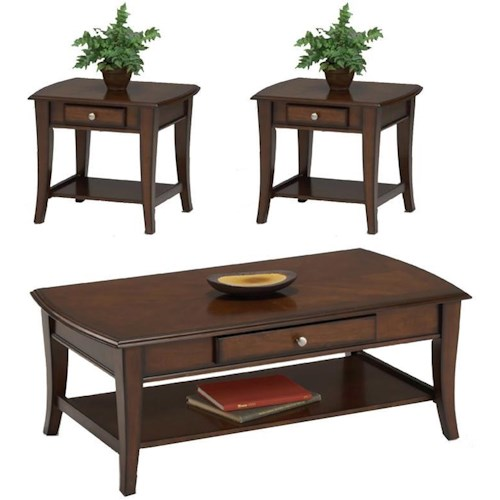 Bernards Broadway 3 Pc. Cocktail Table & 2 End Table Group