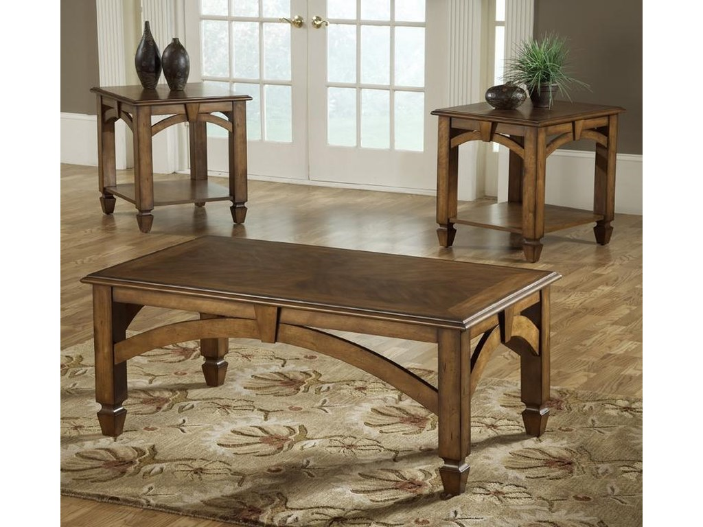 Bernards Arch3 Pack Wood Occasional Tables