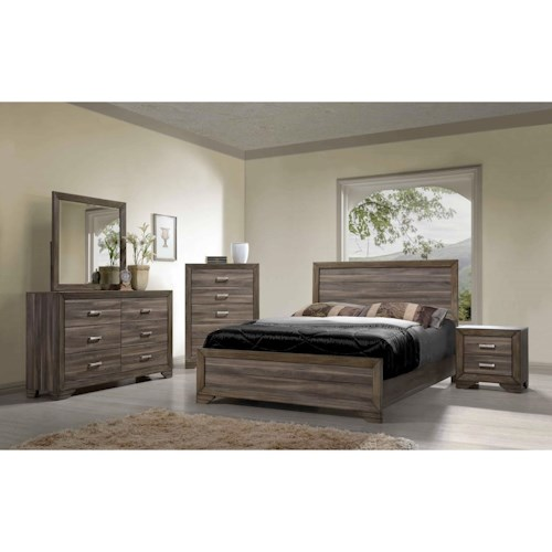 Bernards Asheville King Bedroom Group
