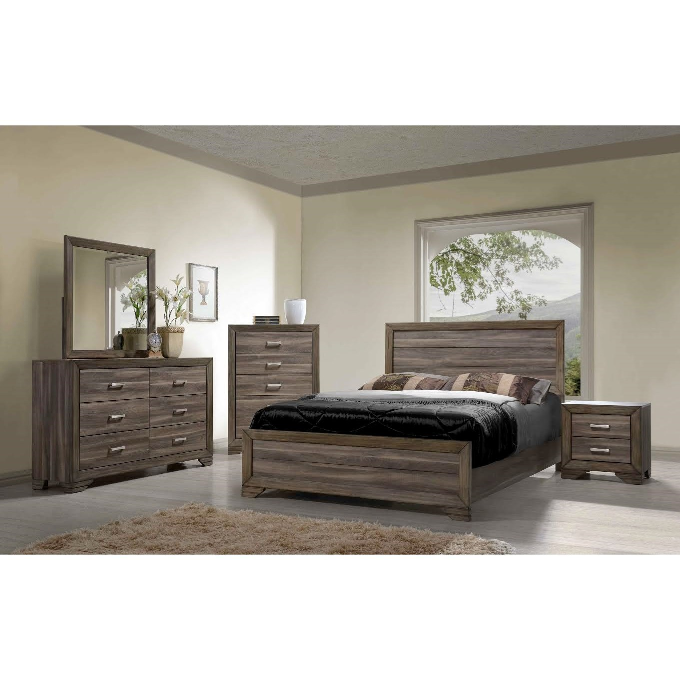Bernards Asheville Queen Bedroom Group