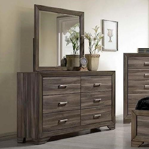 Bernards Asheville Dresser & Mirror