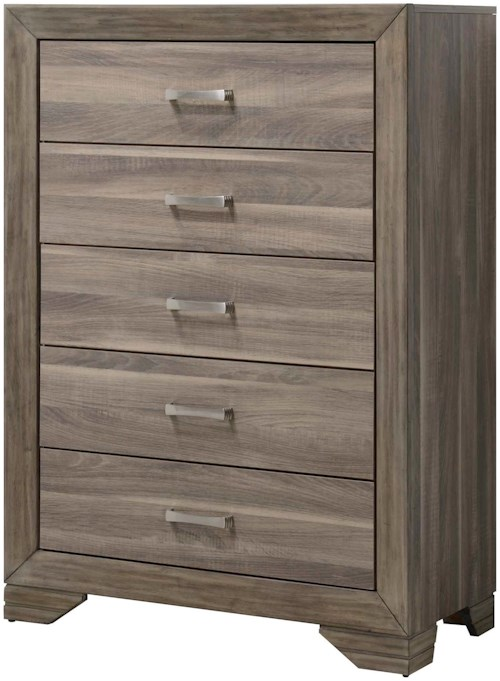 Bernards Asheville Rustic Contemporary Chest