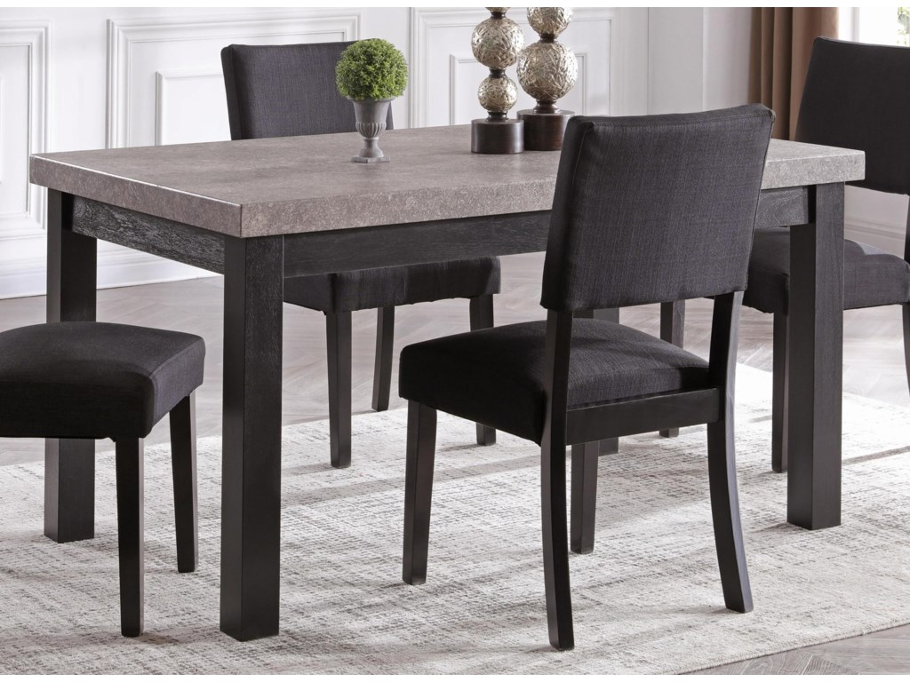 Brockton Faux Concrete Dining Table By Bernards At Wayside Furniture