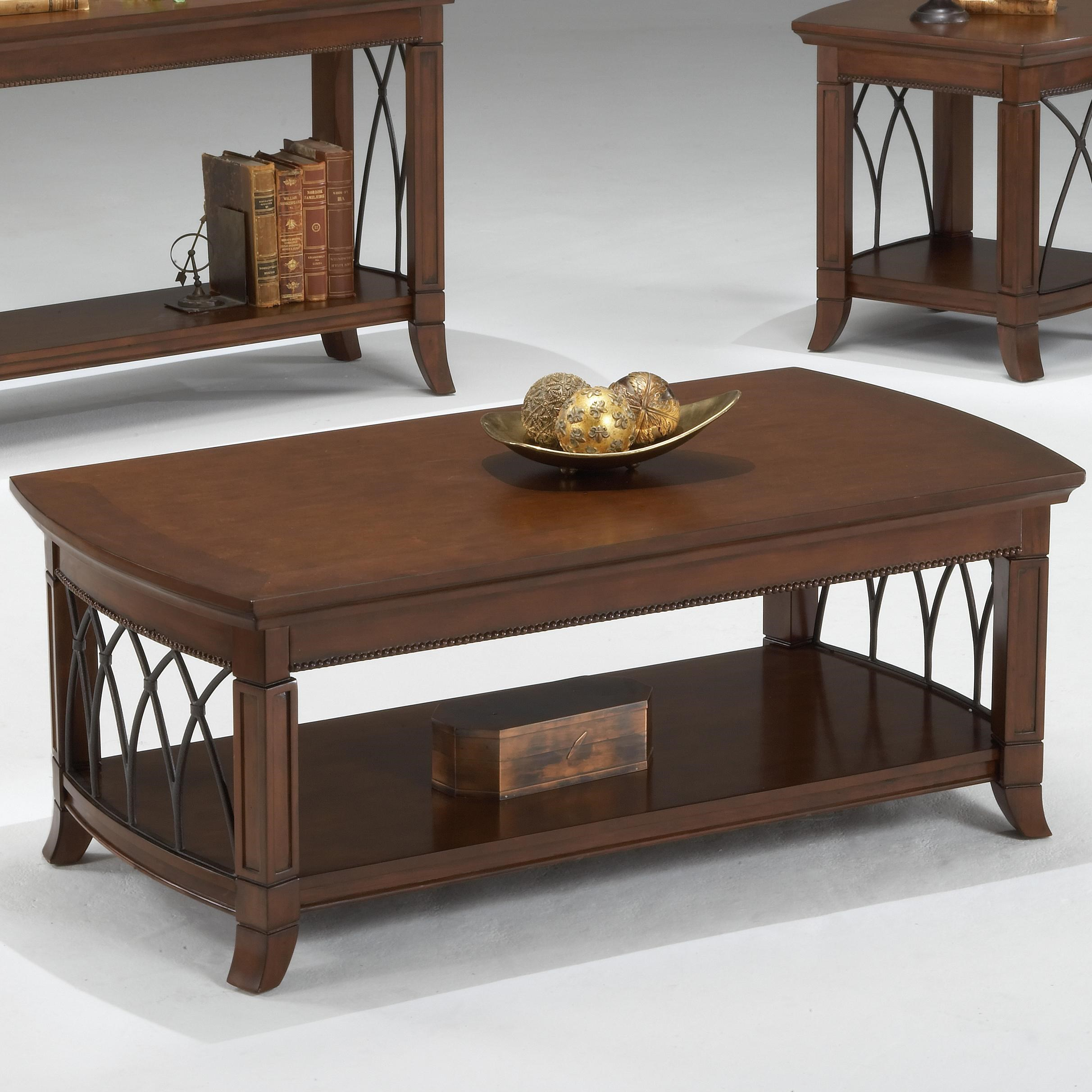 Superior Bernards Cathedral Cherry Coffee Table W/ Lower Shelf