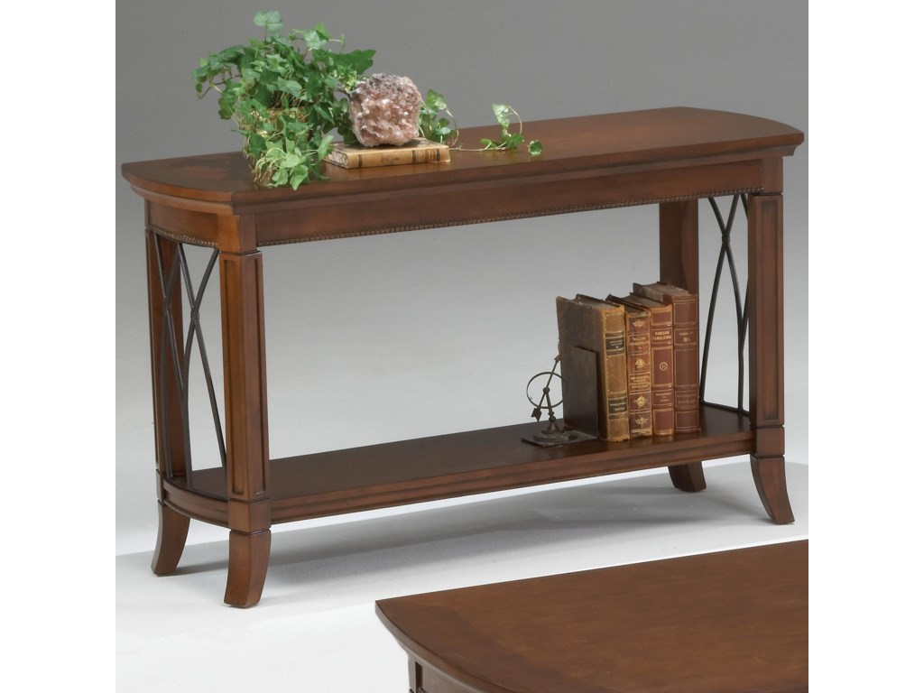 Bernards Cathedral CherryMetal Sofa Table