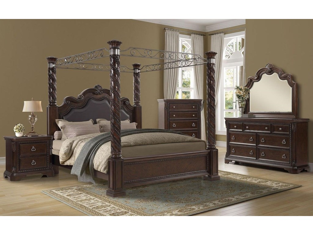 Bernards CoventryKing Canopy Bed