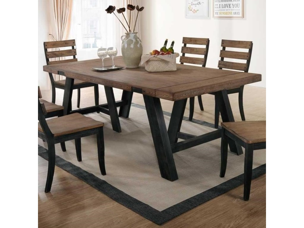 Halsey Two Tone Splay Leg Dining Table By Bernards At Wayside Furniture