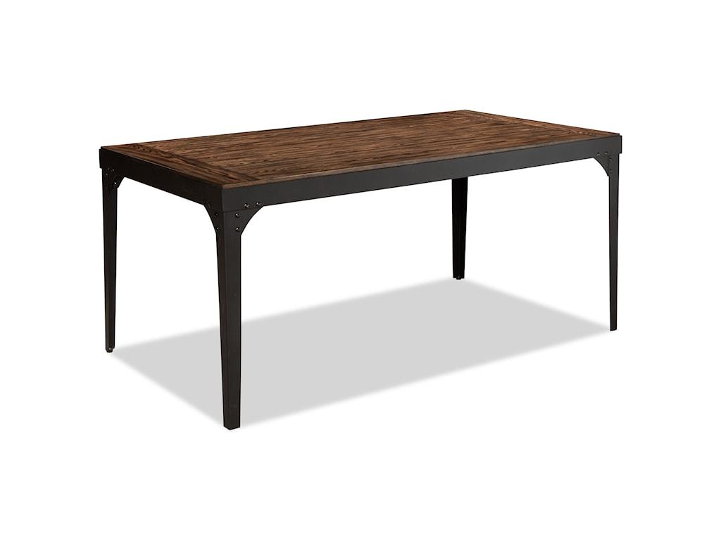Bernards HollisterRectangular Metal and Wood Dining Table