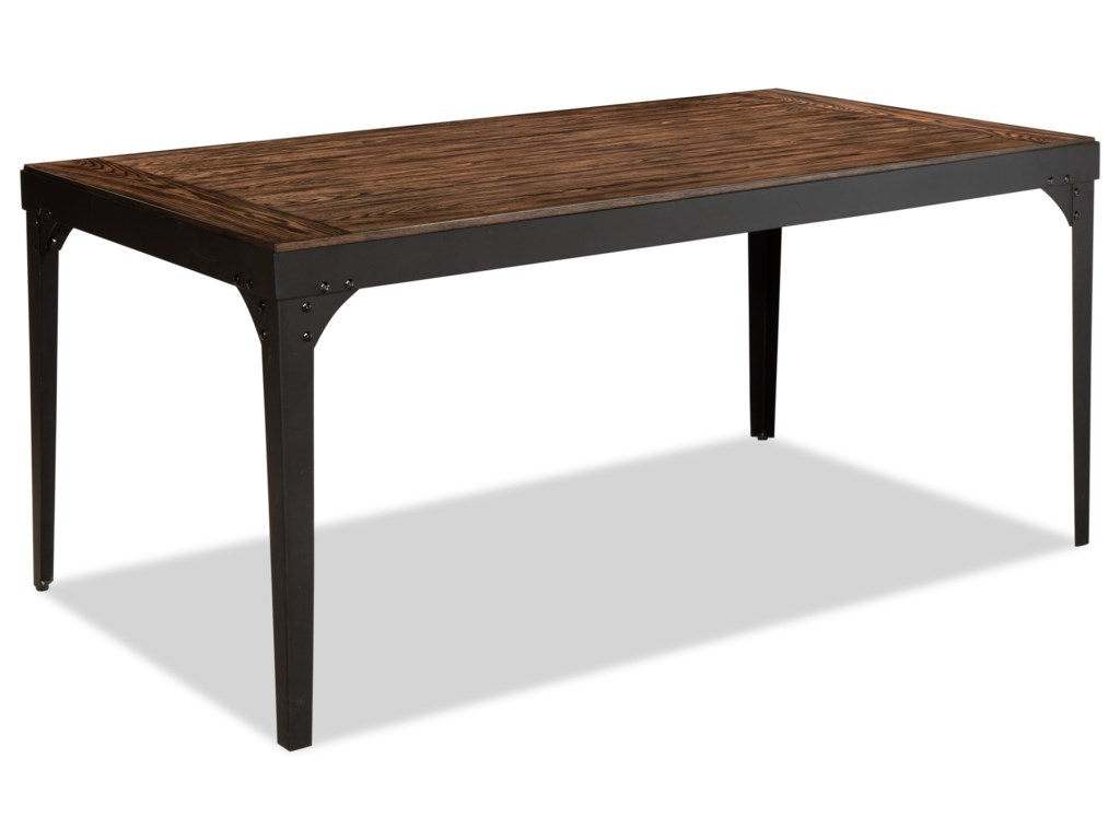 Hollister Rectangular Metal and Wood Dining Table | Morris Home ...