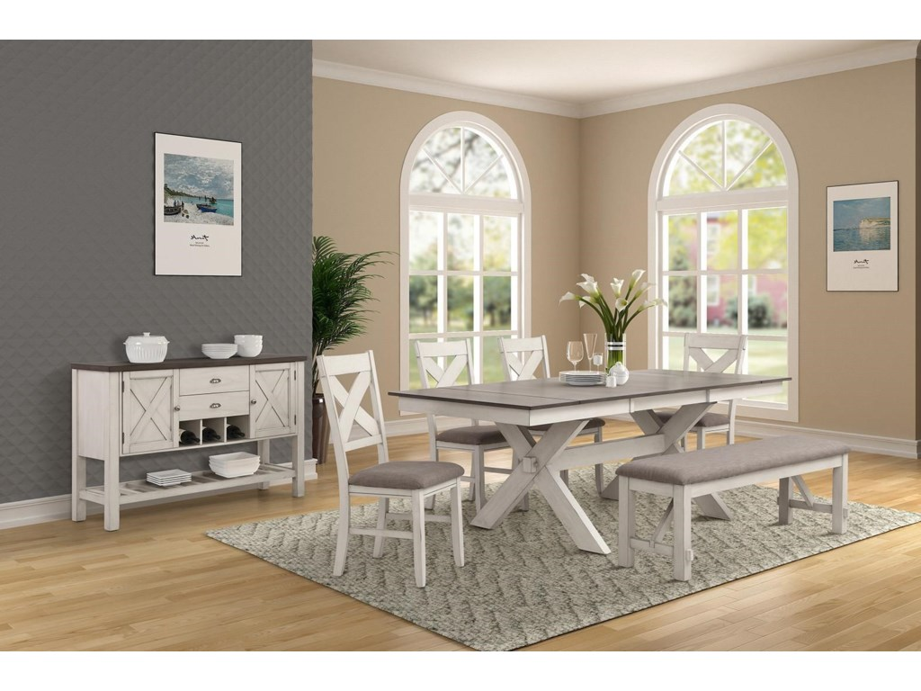 Bernards HomesteadDining Table with End Leaves