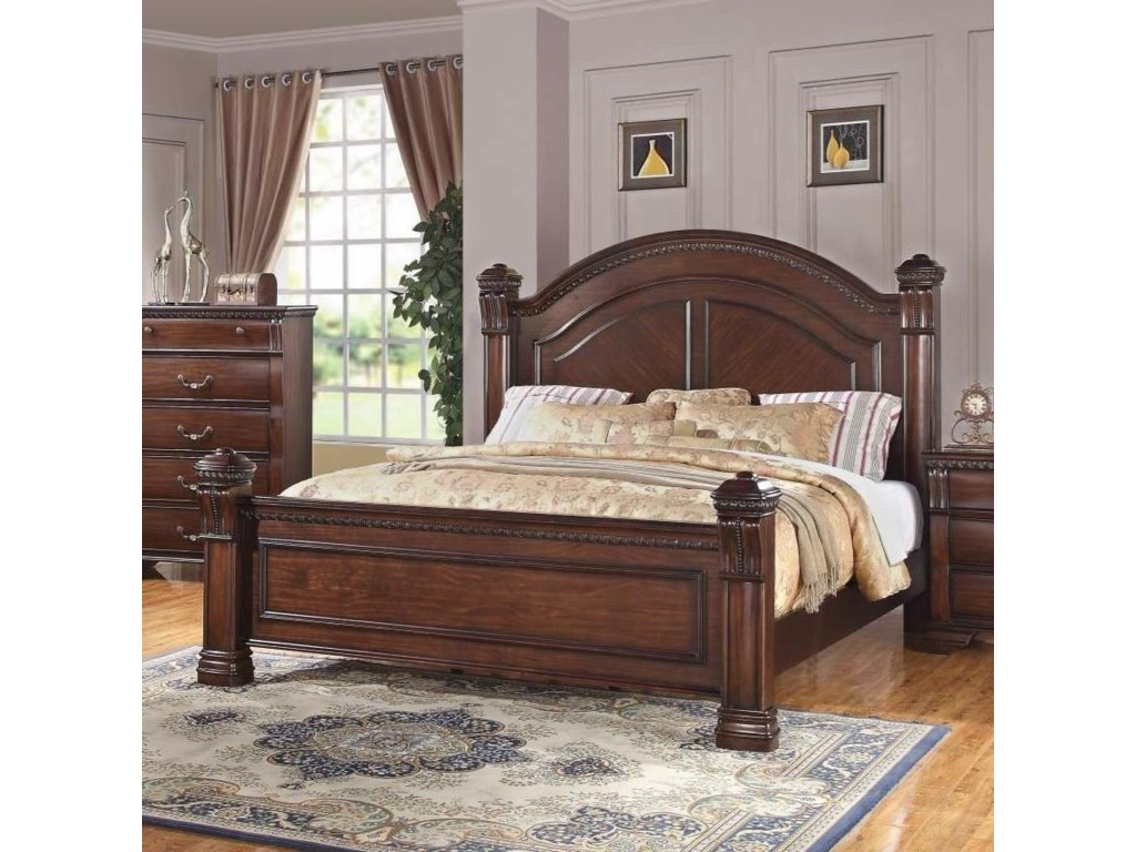 Isabella Traditional Queen Post Bed | Miskelly Furniture | Panel Beds
