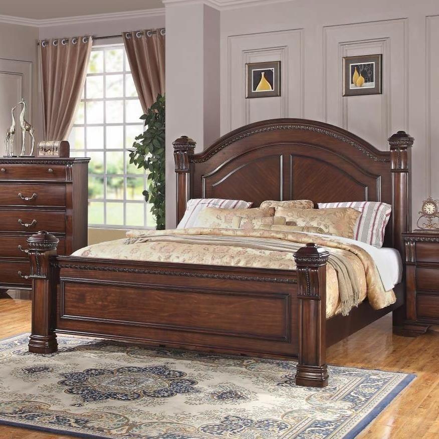 Home Bedroom Furniture Panel Beds Isabella Queen Post Bed. Bernards  IsabellaQueen Post Bed