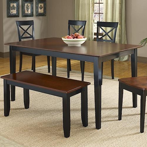 Bernards Jaguar Black/Merlot Dinette Table