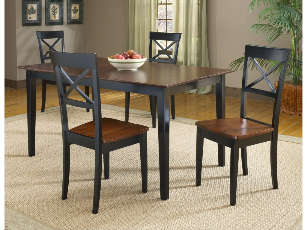 4 Side Chairs Shown with Dinette Table