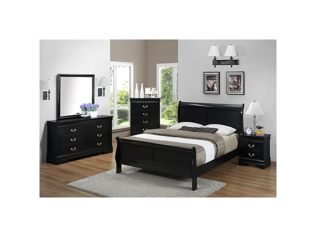 Bernards Jet Queen Bedroom Group