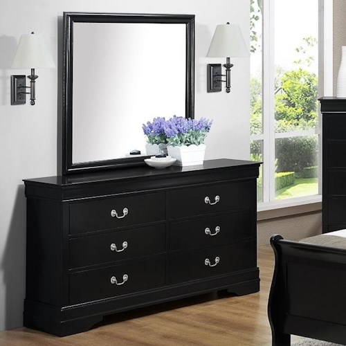 Bernards Jet Dresser & Mirror