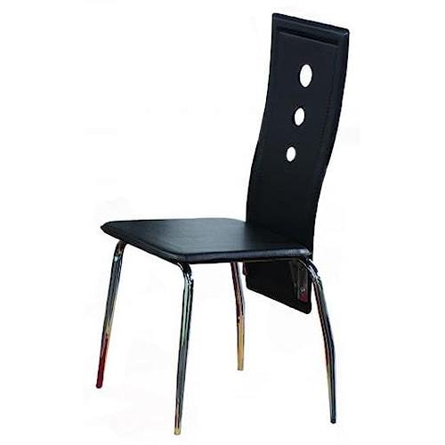 Bernards Lunar Contemporary Black / Chrome Chair