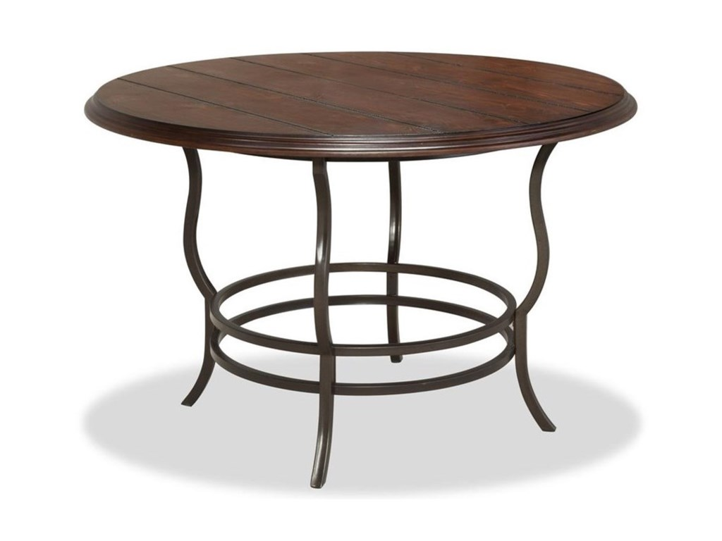 Bernards Midland 5-Piece Metal/Wood Round Dining Table Set - Royal ...
