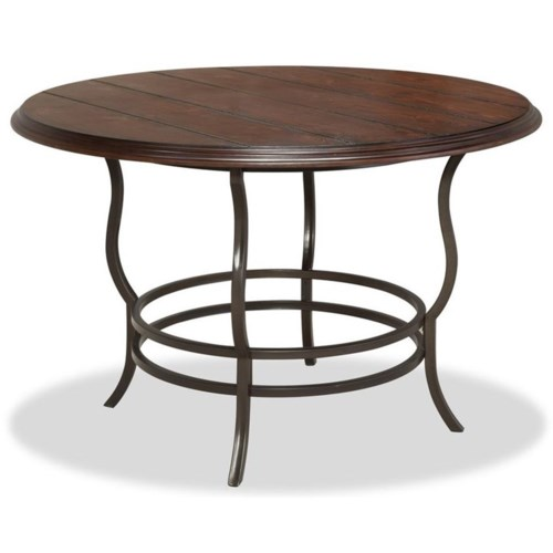bernards midland metal/wood round dining table | wayside furniture