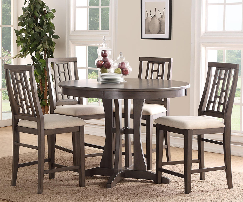 bernards modesto 5piece counter dining table set