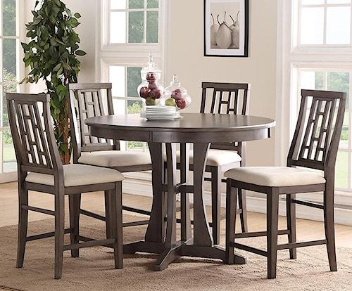 Bernards Modesto 5-Piece Counter Dining Table Set