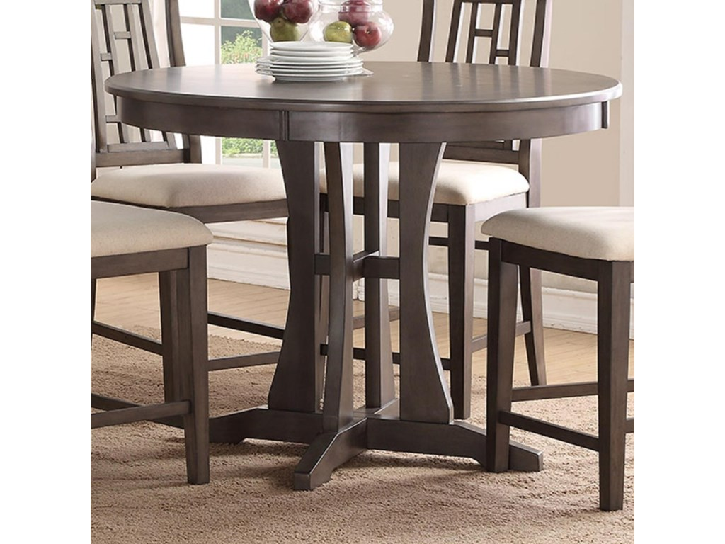 Modesto Inch Round Counter Dining Table With Pedestal Base - 50 inch round pedestal table