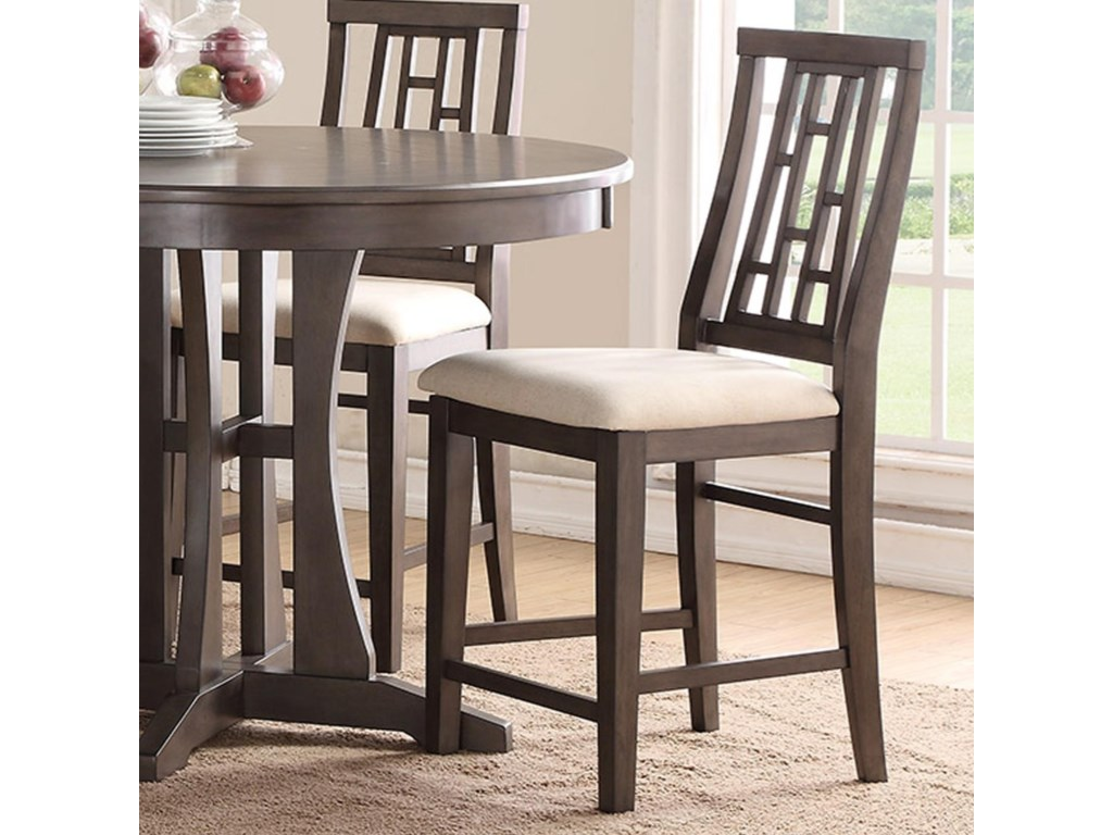 Modesto counter dining stool with upholstered seat by bernards