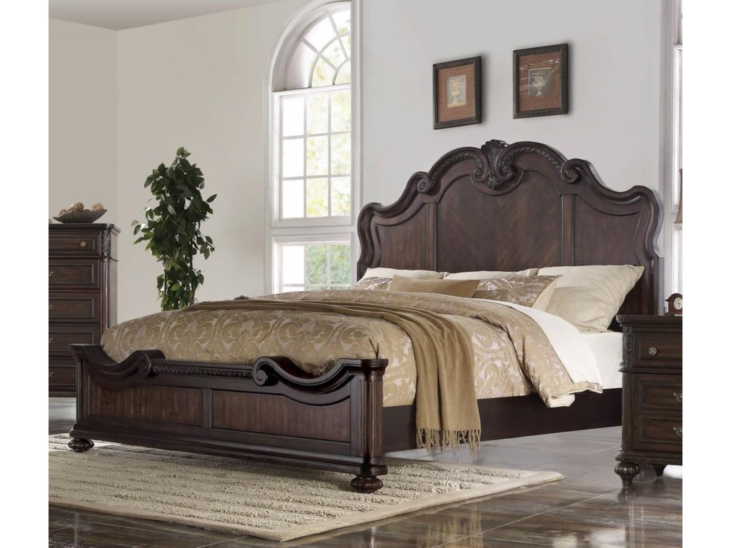 Bernards NottinghamKing Panel Bed