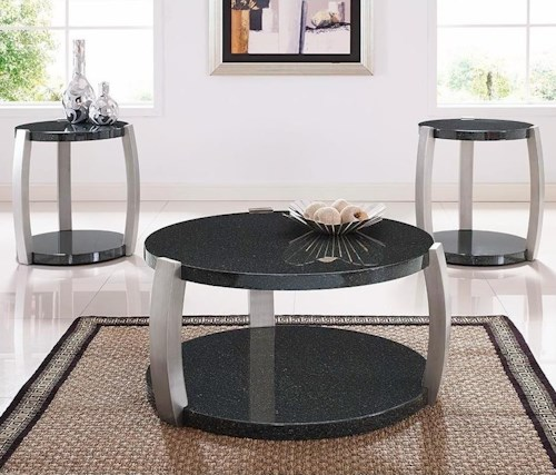 Bernards Orbit Contemporary 3-Pack of Occasional Tables