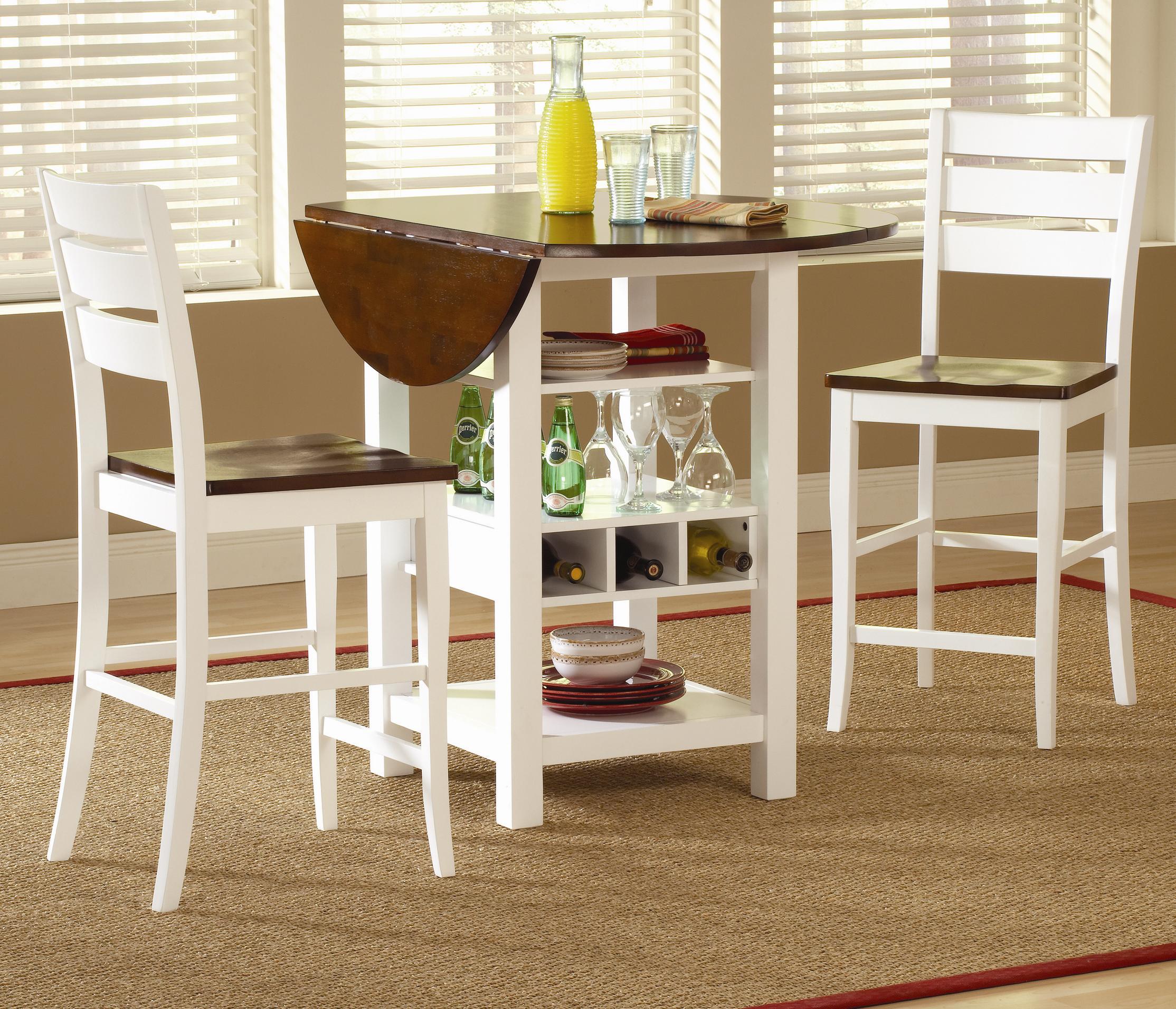 Bernards Ridgewood 3 Piece Drop Leaf Pub Table Set & Bernards Ridgewood 3 Piece Drop Leaf Pub Table Set   Wayside ...