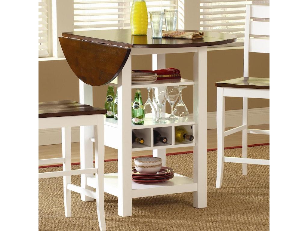 Kitchen Table With Wine Rack Ridgewood Drop Leaf Pub Table With Wine Rack Morris Home Pub
