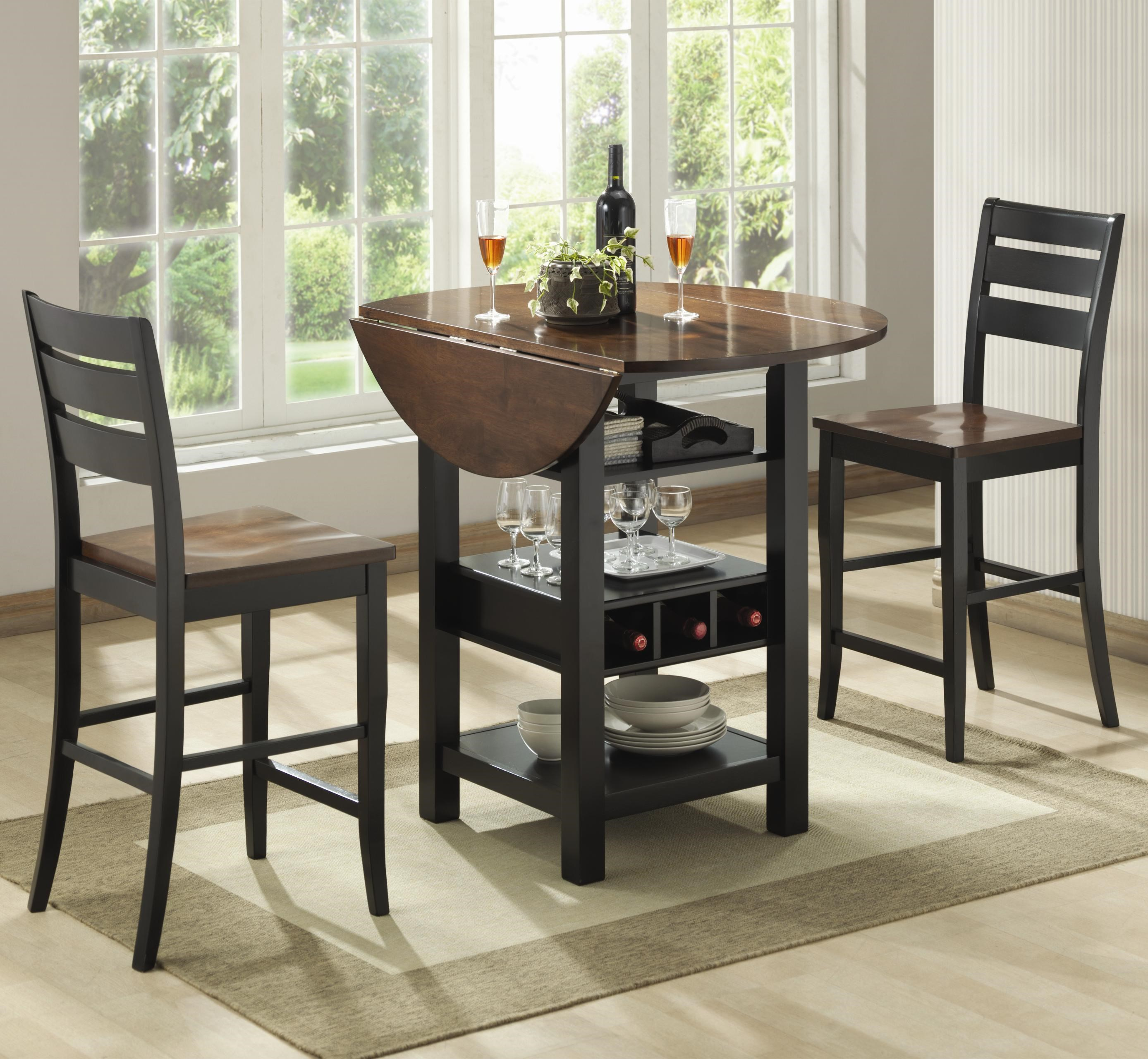 Attractive Bernards Ridgewood 3 Piece Drop Leaf Pub Table Set