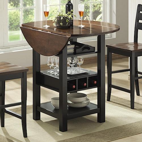 bernards ridgewood drop leaf pub table with wine rack wayside