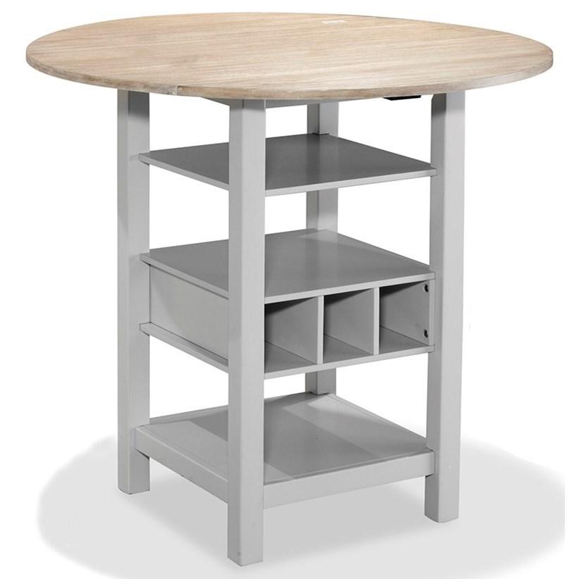 Morris Home RidgewoodDrop Leaf Pub Table ...  sc 1 st  Morris Furniture & Ridgewood Drop Leaf Pub Table with Wine Rack | Morris Home | Pub Tables