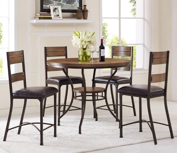 bernards stockton 5piece counter height pub table set