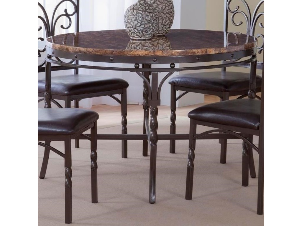 Tuscan Faux Marble Dinette Table