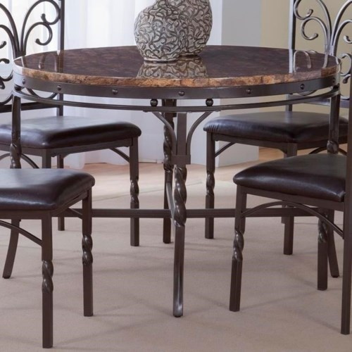 bernards tuscan faux marble dinette table   wayside furniture Dinette Table
