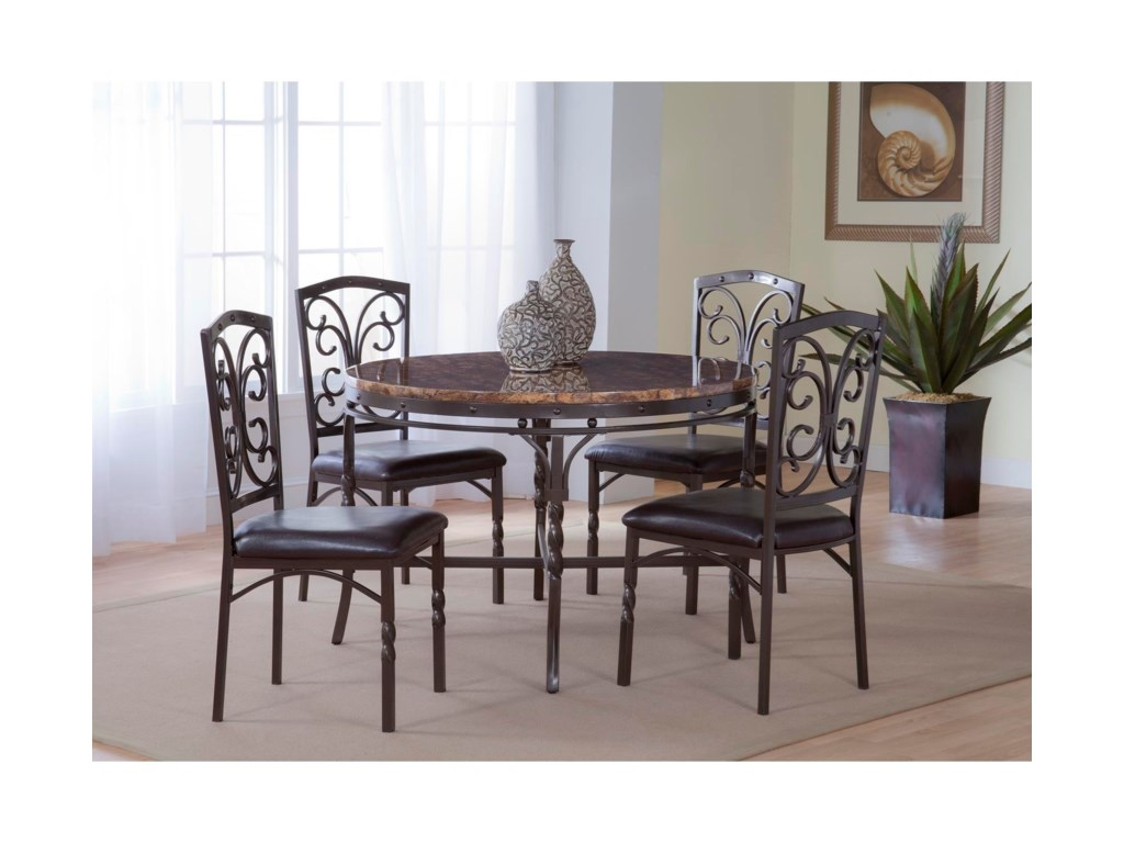 Bernards TuscanFaux Marble Dinette Table
