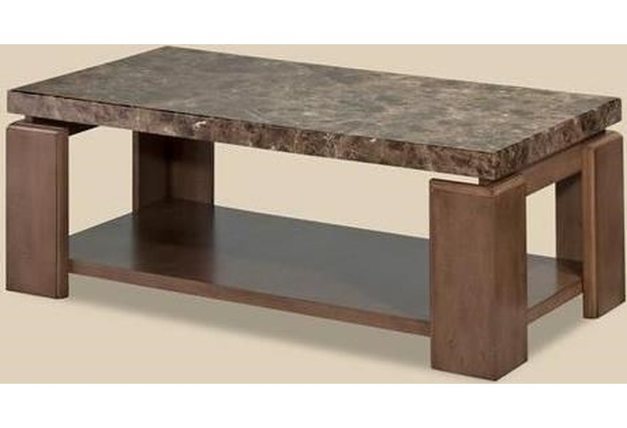 Bernards Waxhaw Contemporary Faux Marble Coffee Table Westrich
